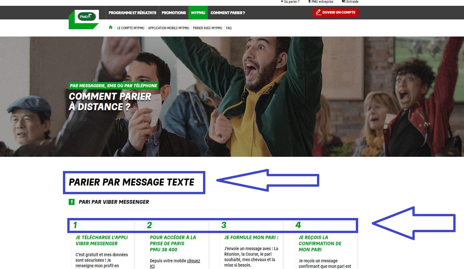Application PMU: interface utilisateur