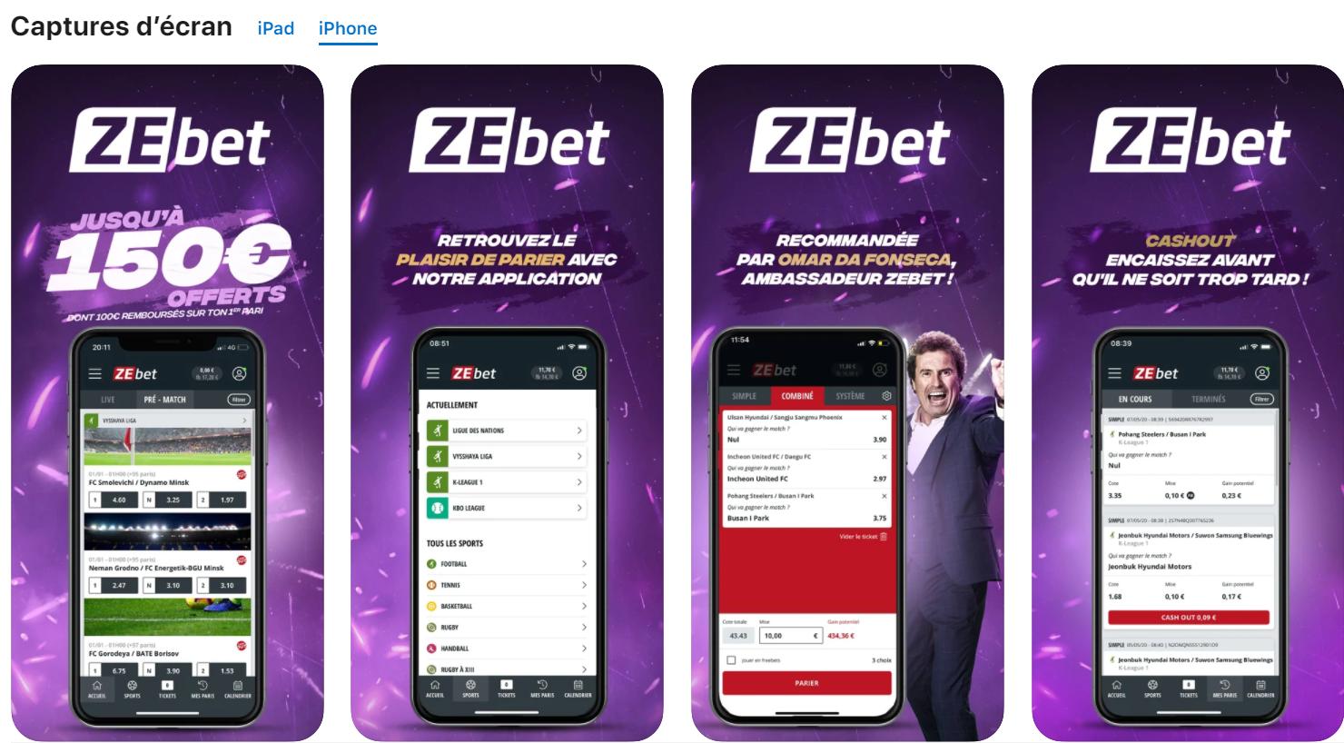 Installation du logiciel de Zebet sur Android
